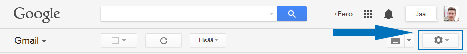 Gmail asetukset